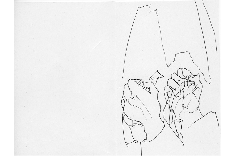 Sketch for Syria call for drawings, Alvaro Siza, IUAV Venice 2016