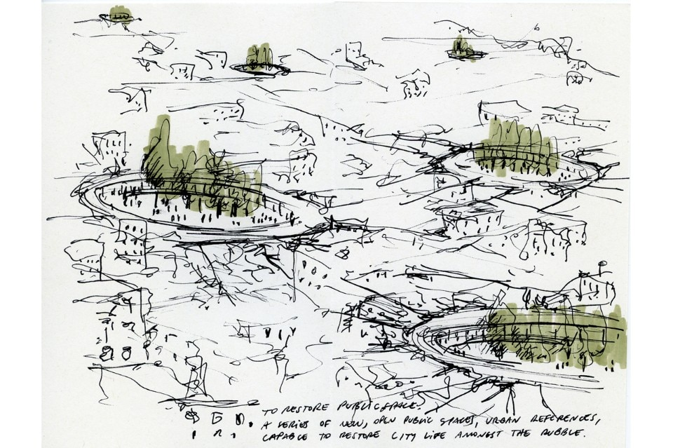 Beals and Lyon, Sketch for Syria call for drawings, IUAV Venice 2016