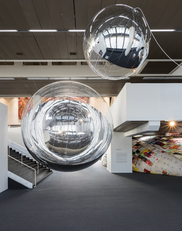 Tomás Saraceno: Aerosolar Journeys, installation view at Wilhelm Hack Museum, Ludwigshafen, 2017. Courtesy of the artist; Tanya Bonakdar Gallery, New York; Andersen's Contemporary, Copenhagen; Pinksummer Contemporary Art, Genoa; Esther Schipper, Berlin