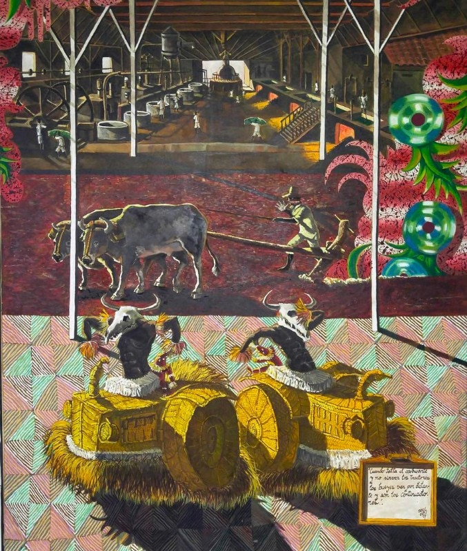 Douglas Perez Castro, Traccíon Animal, 1995, oil on canvas. The Bronx Museum of the Arts Permanent Collection, gift of Steven Kasher and Susan Spungen Kasher