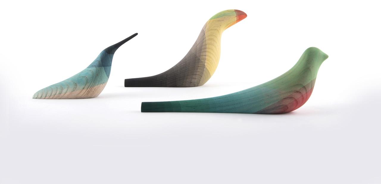 Wooden plumage
