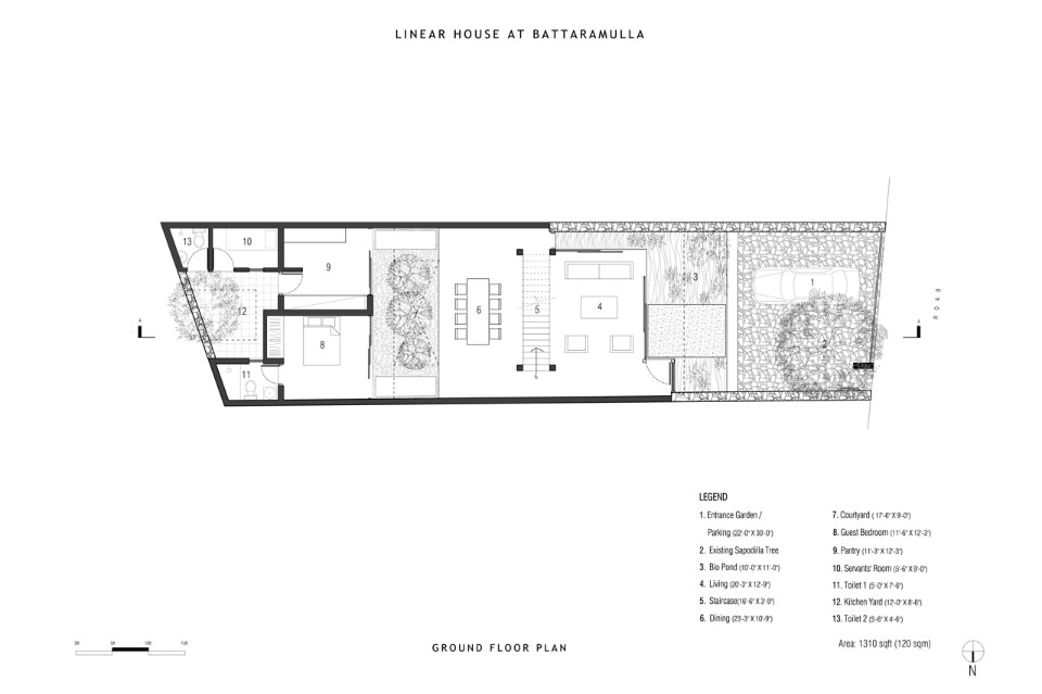 Linear house domus for Linear architecture design