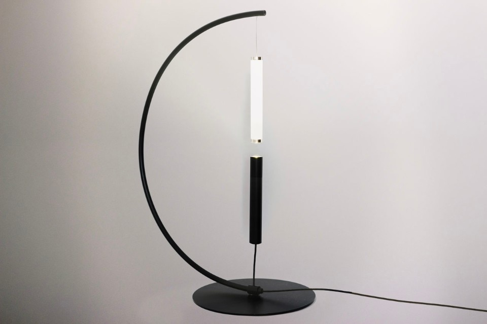 Olive Lab, Equilibrio lamp, desk version in black, 2016–2017