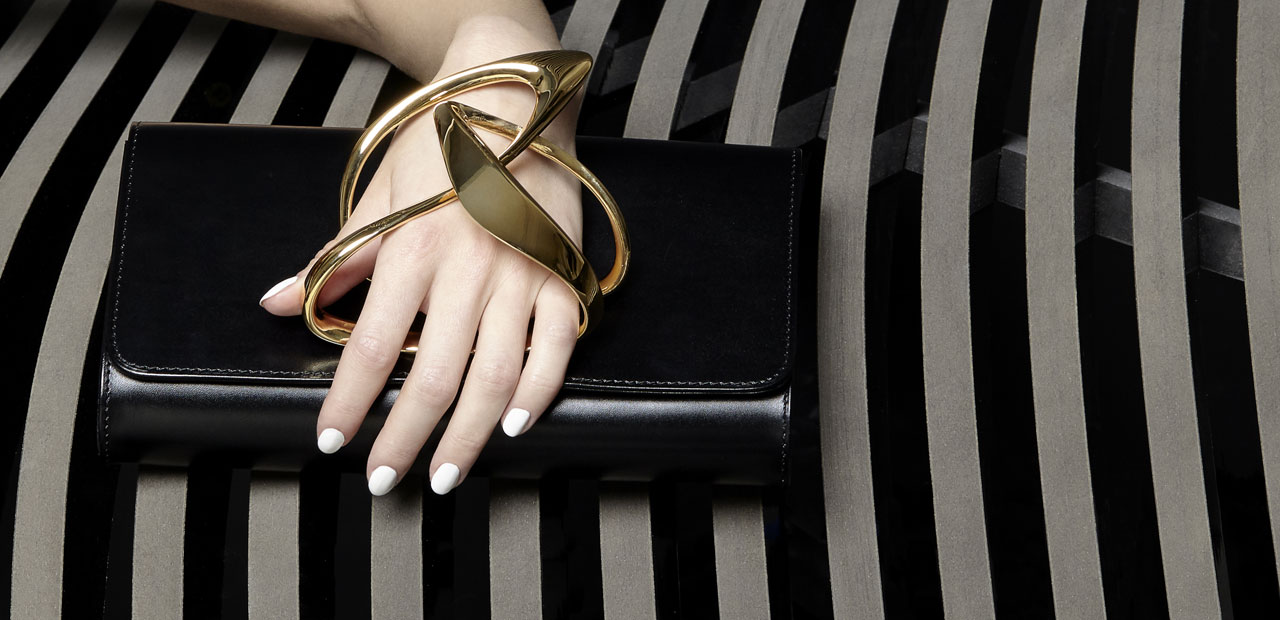 Zaha Hadid glove clutch