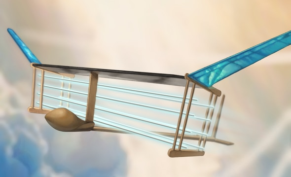 Computer-generated rendering of the EAD airplane. Credit: MIT