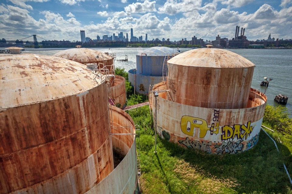 Demolition Of Industrial Tanks In Brooklyn Raises Protests