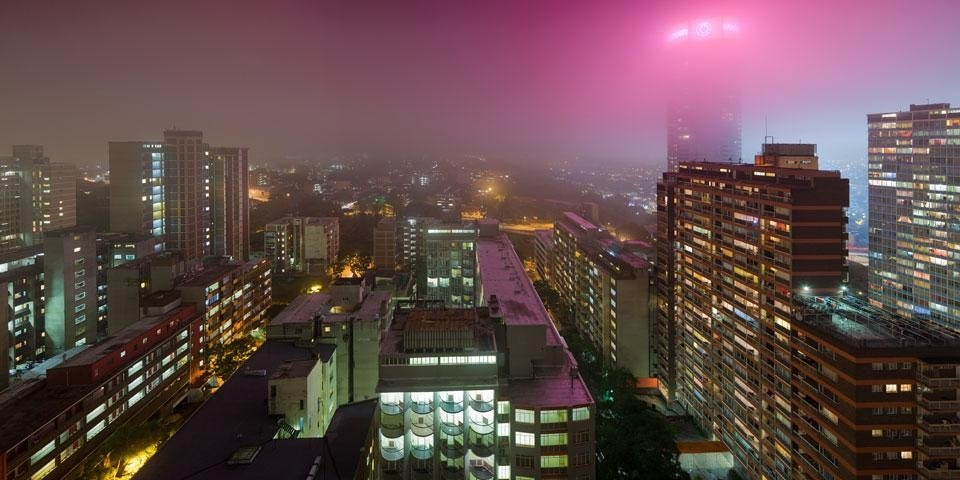 Leon Krige, <em>(In)visible city revisited</em>. Top: Pretoria street. Above: East Fog