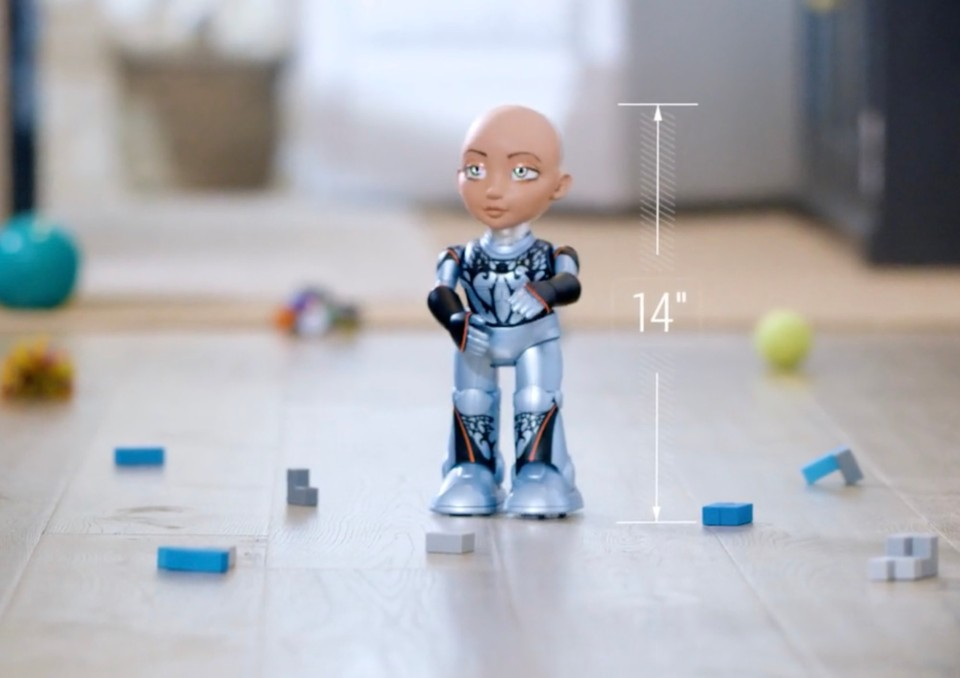 Little Sophia is a robot that will teach kids how to code