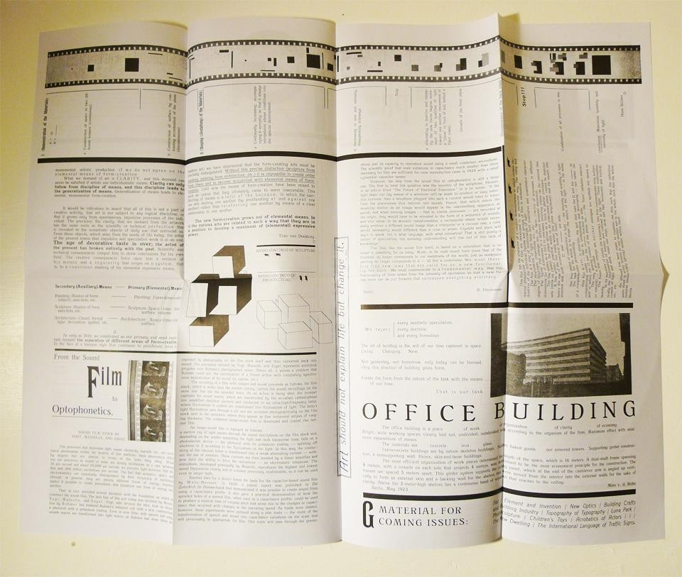 G an avant garde journal of art architecture design for Full size architectural drawings