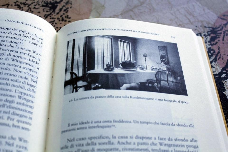 Interior pages from <i>Interior pages from Architecture is a Gesture: Ludwig Wittgenstein, architect.</i> The dining room in a vintage photograph of the Kundmanngasse house.