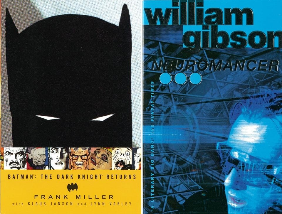 Left: Frank Miller with Klaus Janson and Lynn Varley, <i>Batman®: The Dark Knight® Returns,</i> DC Comics, New York 1997. Right: William Gibson, <i>Neuromancer,</i> HarperCollins Publishers, London 1995.