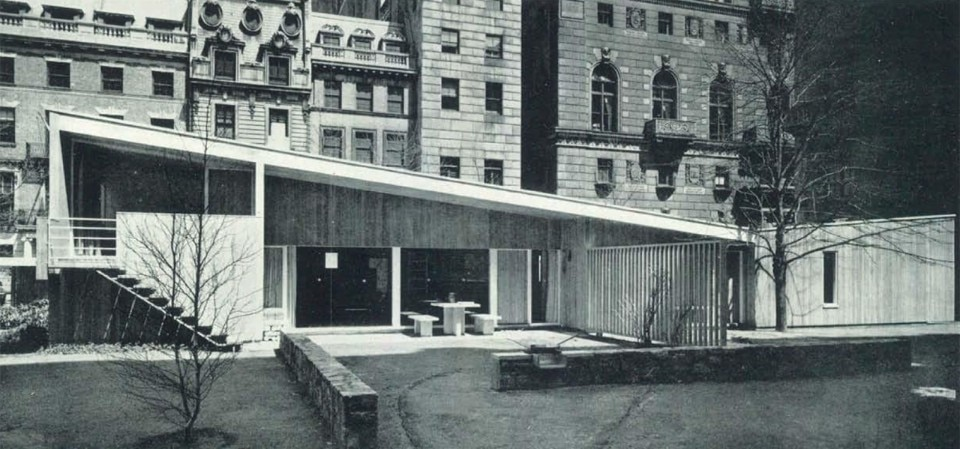 breuer House in the Museum garden MoMA 1949 - Domus