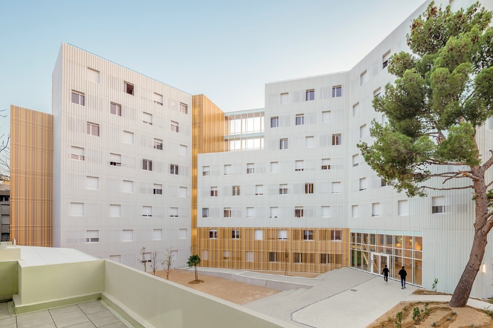 A+Architecture, Lucien Cornil student residence, Marseilles, France, 2017