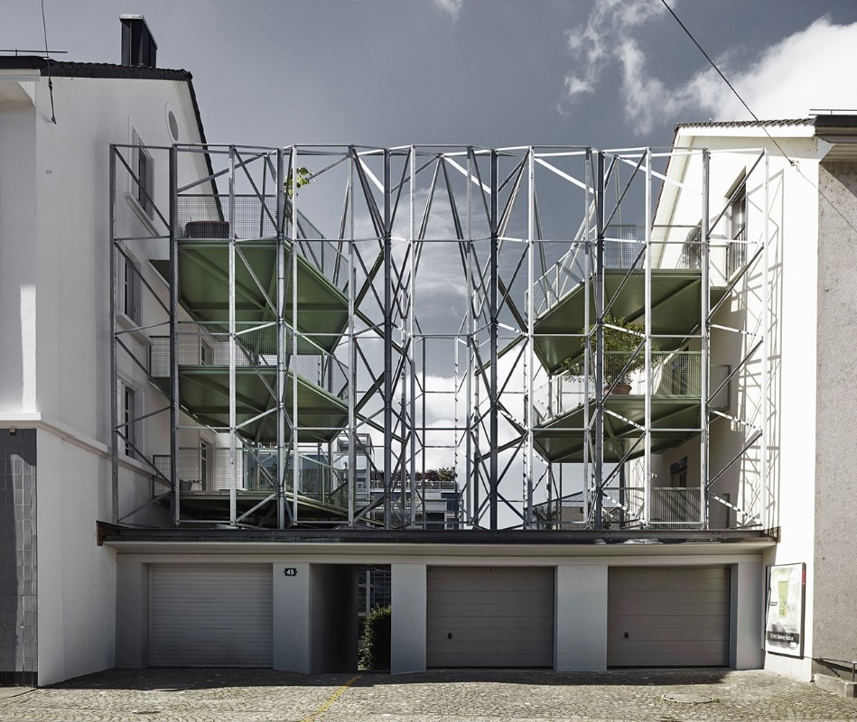 idA, Reconstruction of a townhouse with new steel balconies, Zurich, Switzerland, 2016