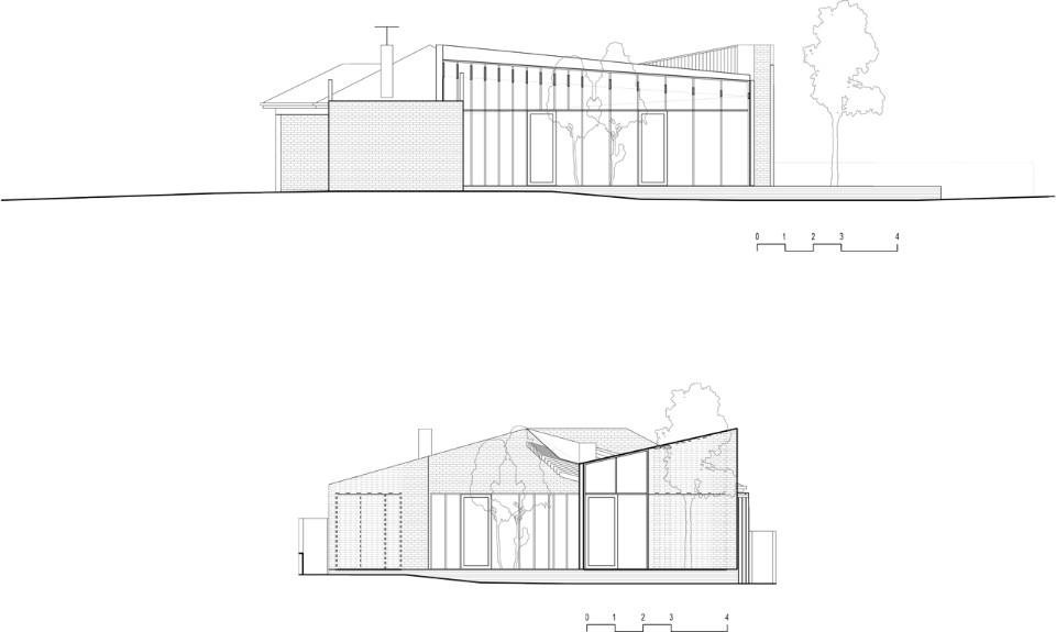 Melbourne una casa di mattoni tra gli eucalipti domus for Piani di casa con una vista verso la parte posteriore