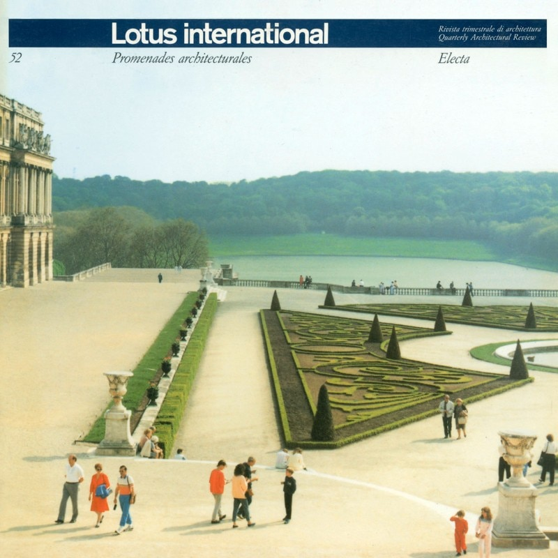 Cover of Lotus international 52, 1986