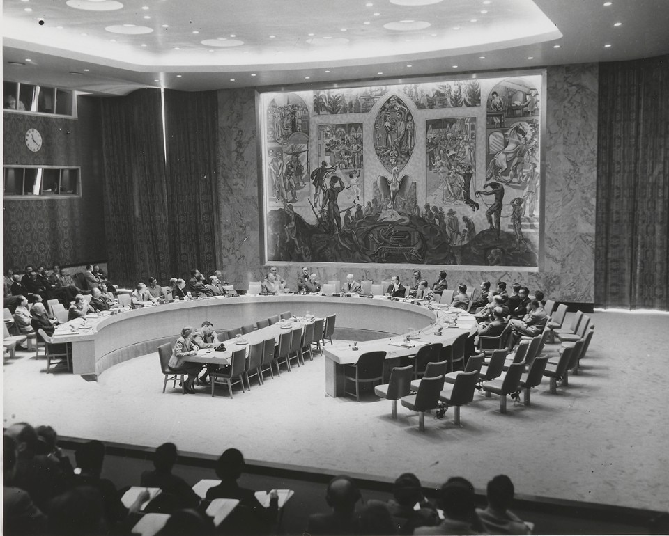 Arnstein Arneberg, The Security Council Chamber, 1952. Photo United Nations, 1952 – Nasjonalmuseet