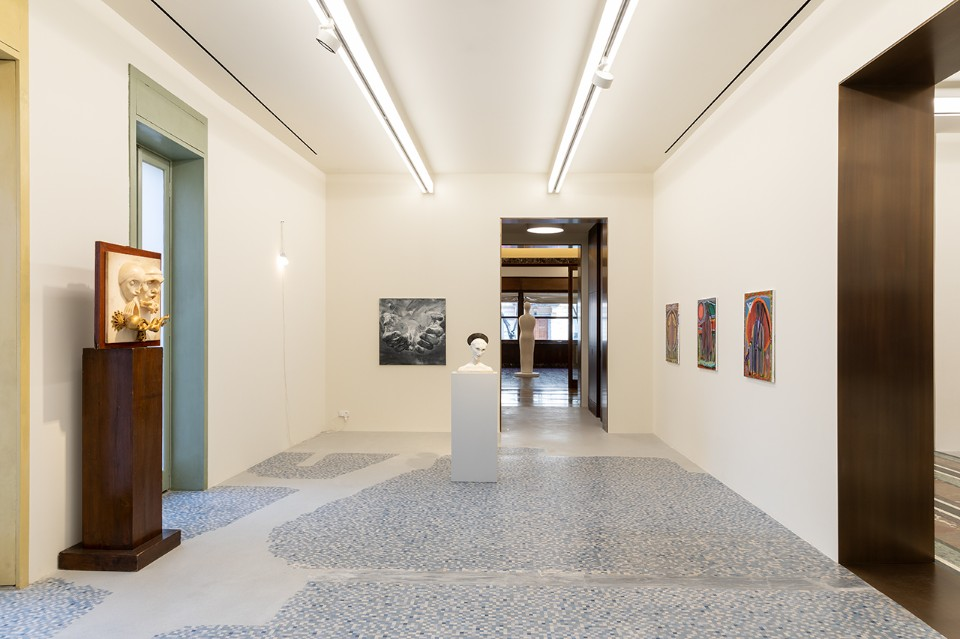 "Set up for the exhibition ""MCMXXXIV"", in collaboration with Francesco Bonami. The exhibition pays tribute to the year of the beginning of the construction of Casa Corbellini-Wassermann. From 8 March to 18 May 2019. Photo Roberto Marossi"