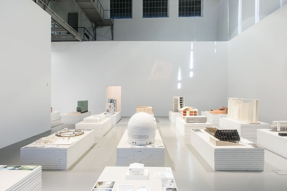 "The room dedicated to models of 21st-century architecture in ""Economy of Means"" is almost a koolhaasian City of the Captive Globe. Photo Fabio Cunha"