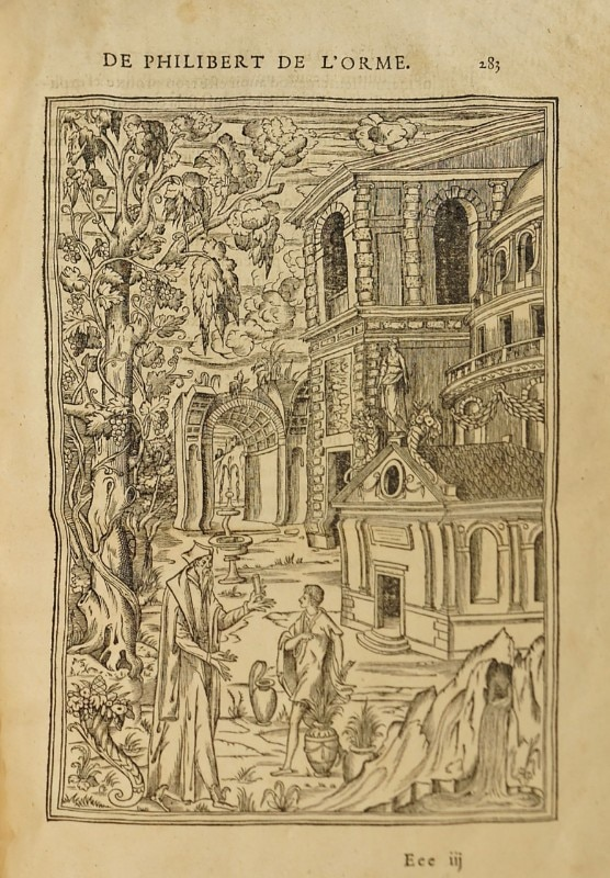"An excerpt from the illustration by the French architect Philibert de l'Orme (1514 - 1570) opens ""Economy of Means"" and indicates the importance given by the curator to the transmissibility of the discipline in the very definition of ""architecture of reason"". Image via Wikimedia Commons"