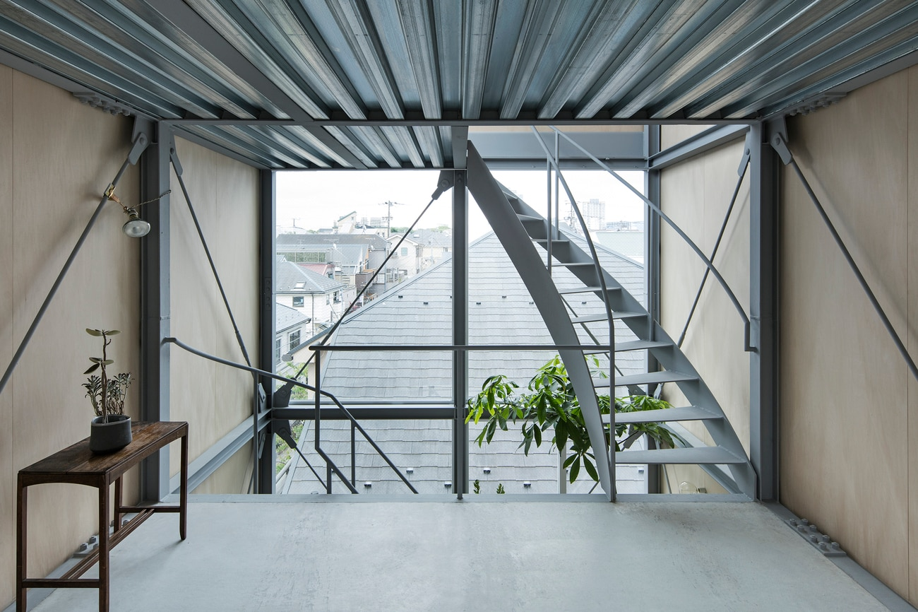 House in Ebisu is a five-storey, seven-flight house designed