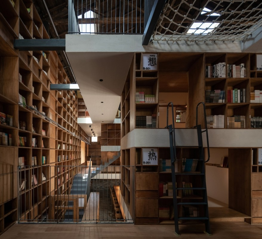 Atelier tao+c, Capsule Hotel and Bookstore in Village Qinglongwu, China, 2019. Photo Su Shengliang