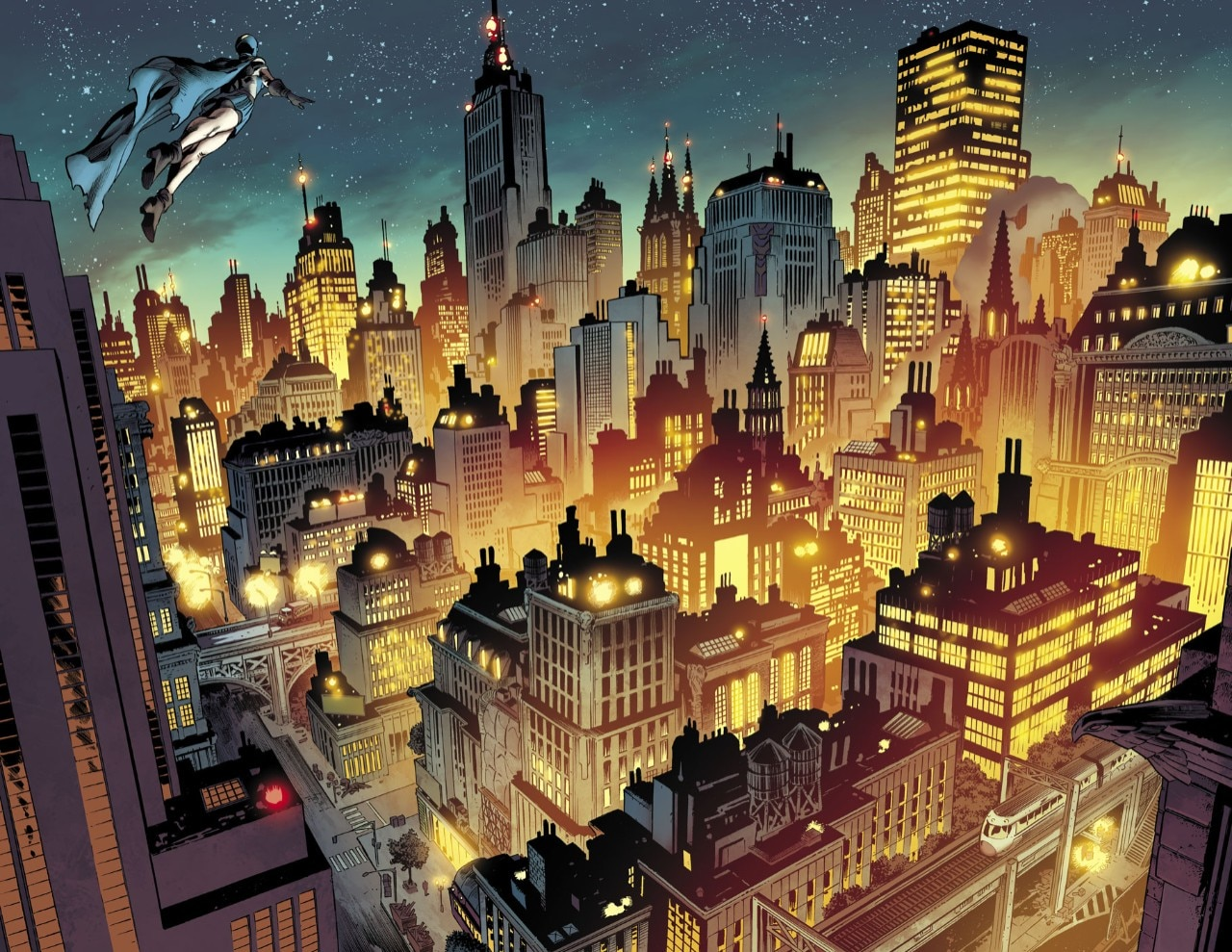 Metropolis and Gotham, day and night of the American city