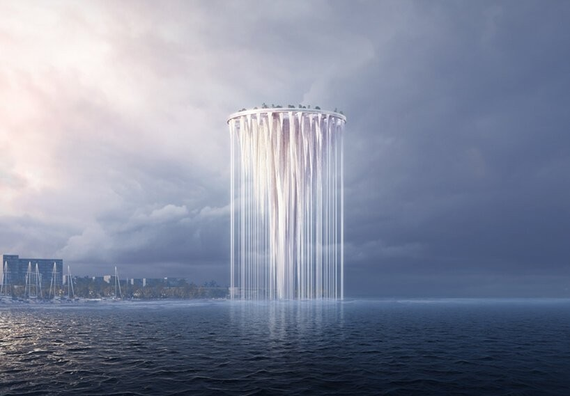 An ethereal tower in Shenzhen's bay, the image of a future world