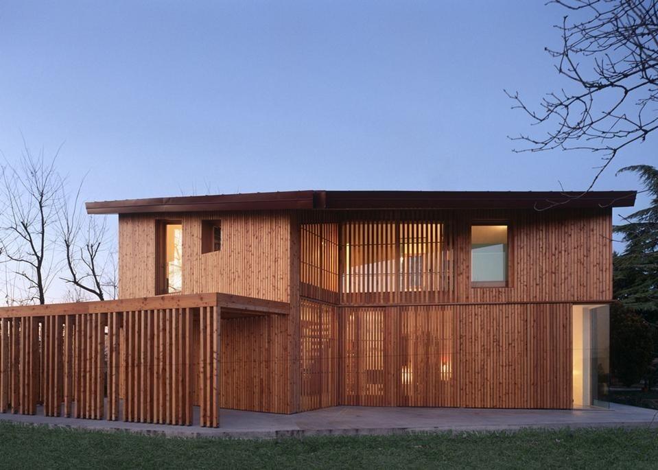 Arbau studio ghaus casa in legno a spresiano tv domus for Costo casa in legno