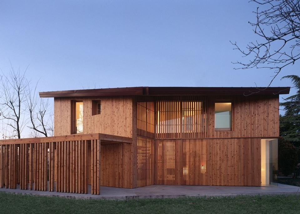 Arbau studio ghaus casa in legno a spresiano tv for Mazzocchi strutture in legno