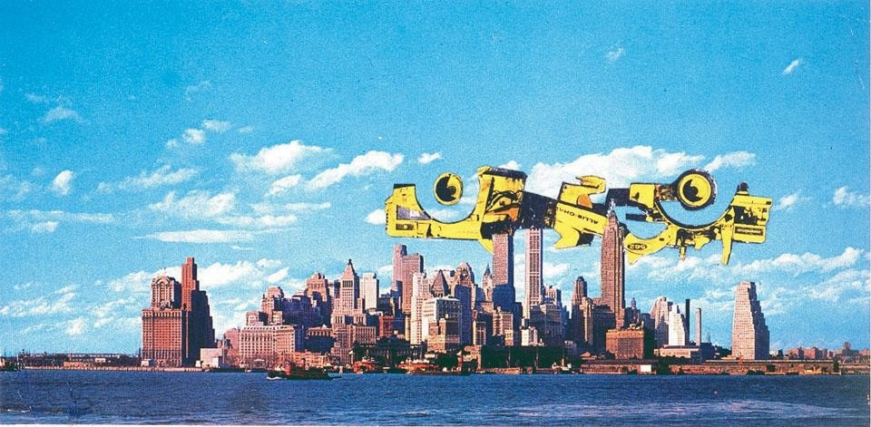 Hans Hollein, <i>Superstructure over Manhattan</i>, 1963.