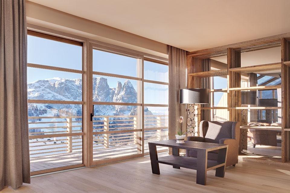 Architettura in alta quota domus for Mazzocchi strutture in legno