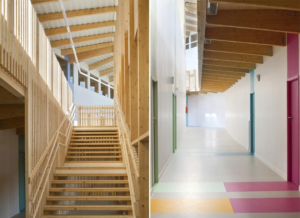 Hubert roy complesso scolastico a le bourget domus for Mazzocchi strutture in legno