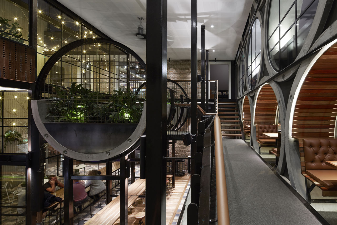 Techne architects prahran hotel for Industrial hotel design