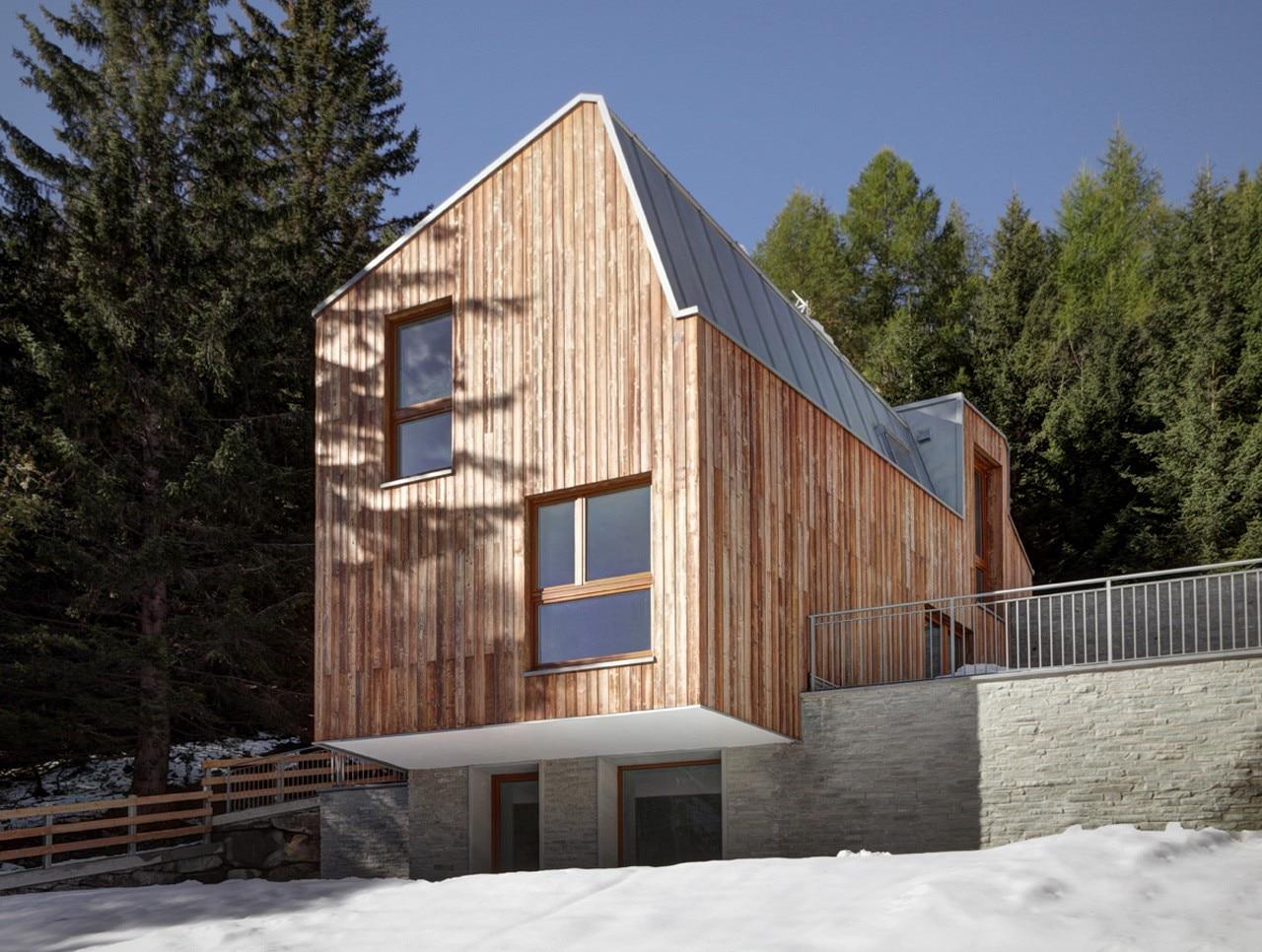 Casa a madesimo domus for Log casa architetti