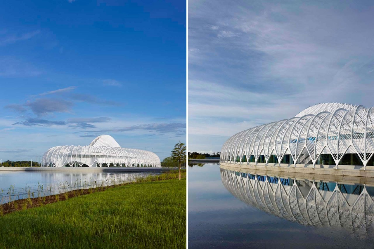 Santiago Calatrava, Campus Master Plan & Science, Innovation and Technology Building, Florida Polytechnic, Lakeland, Florida.  Photo © Alan Karchmer for Santiago Calatrava, LLC