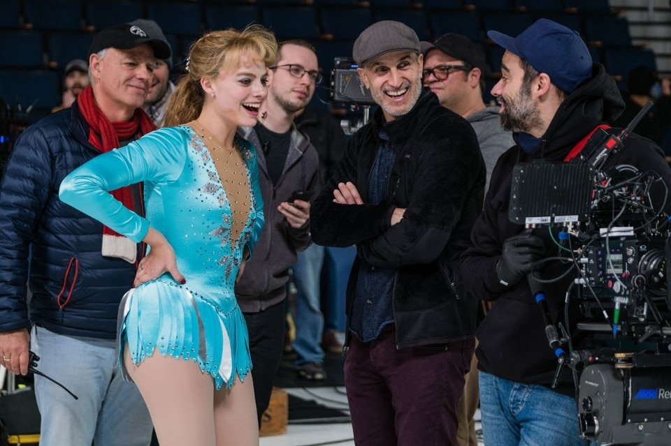 Tonya, on the set