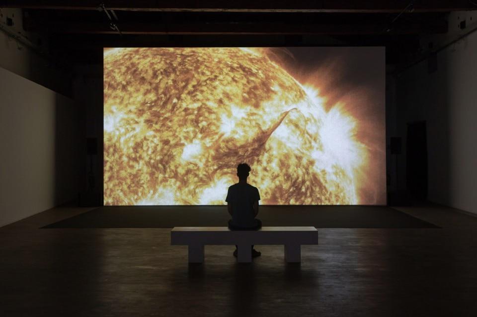 Ryoichi Kurokawa, unfold, exhibition view, Galleria Civica di Modena, 2018
