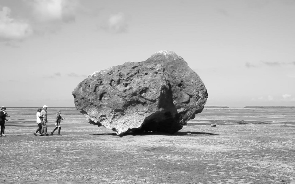 Motoyuki Shitamichi, Tsunami Stone, (2015-), black and white photography