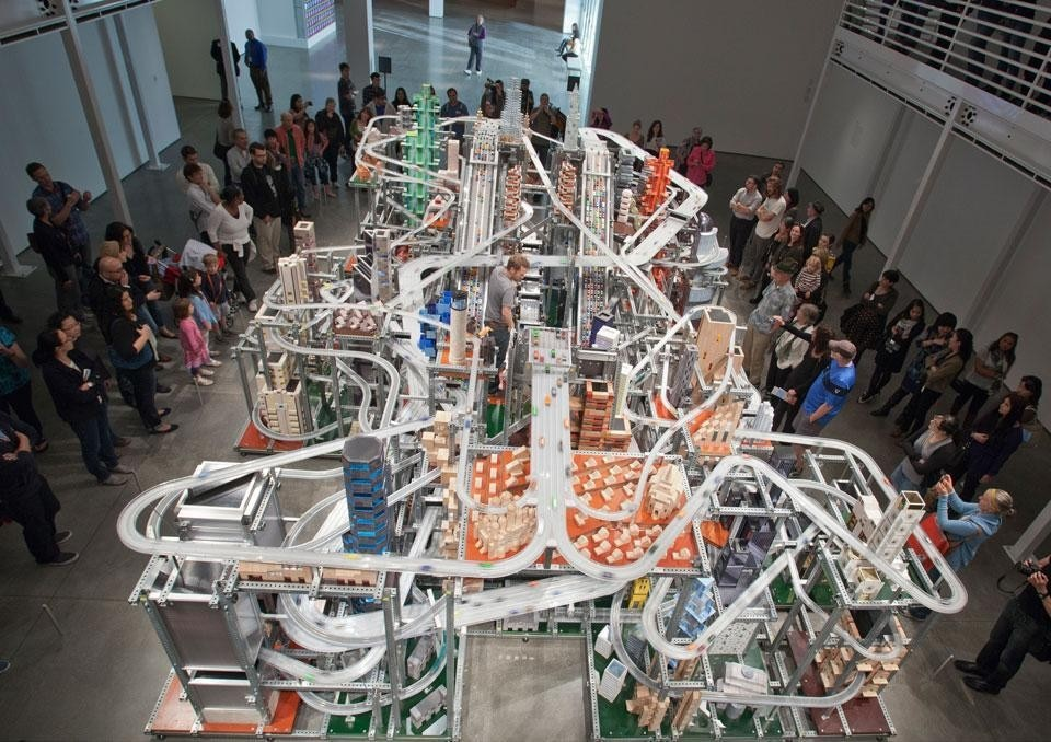 Chris Burden, <i>Metropolis II</i>, vista dell'installazione