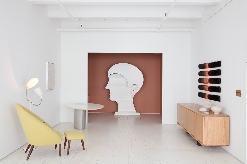 """Designing Women II: Masters, Mavericks, Mavens"", veduta della mostra, Egg Collective showroom, New York, 2018"