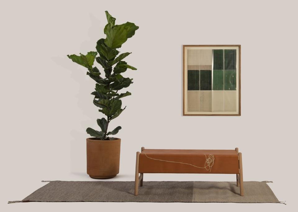 Arti e mestieri del messico negli sgabelli in cuoio e agave di peca