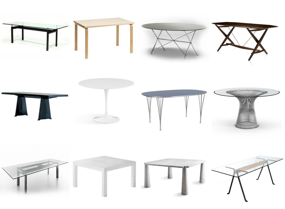 20 Imperdibili Tavoli di Design: i Migliori Tavoli da Le Corbusier a ...