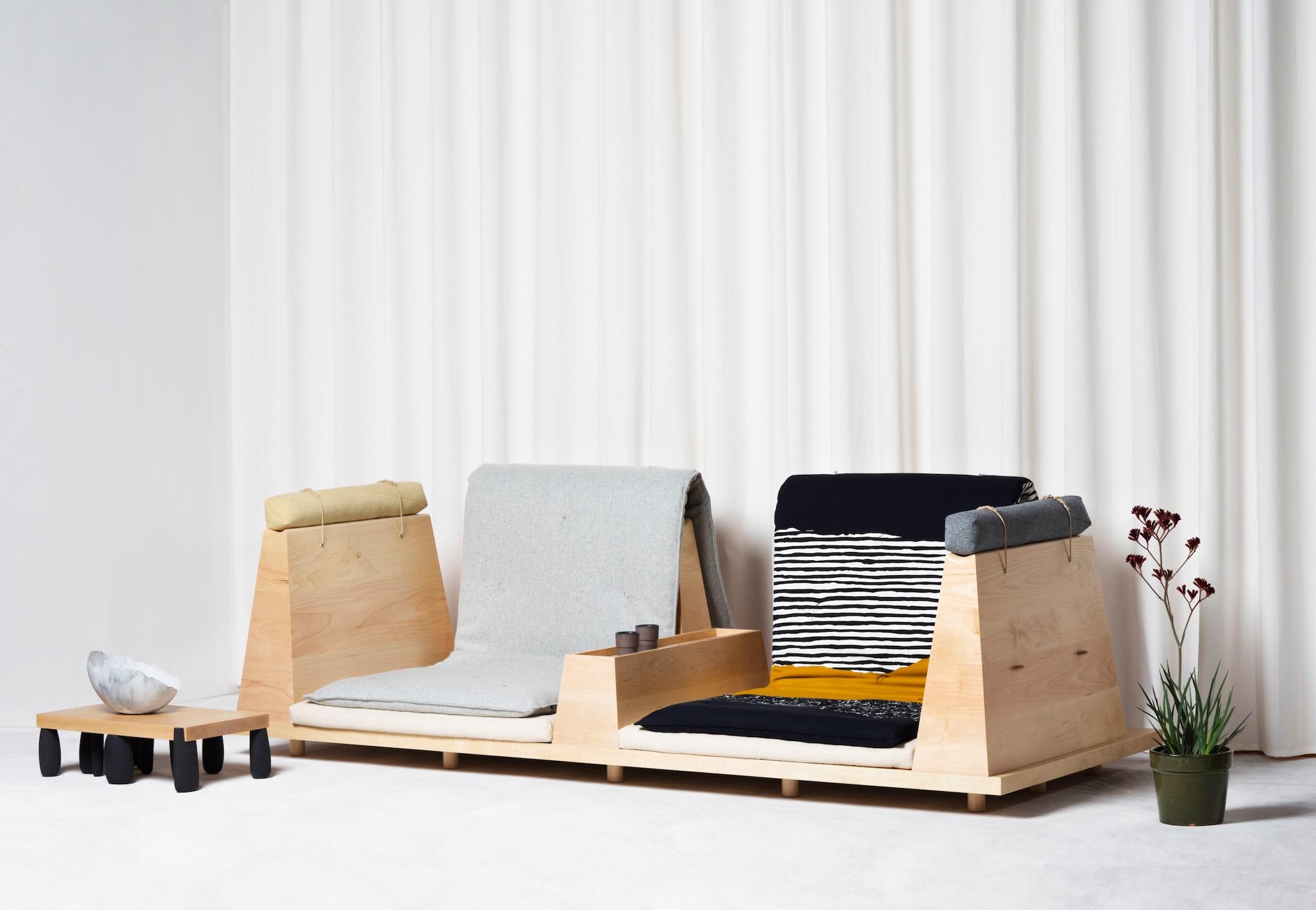 Zabuton Sofa: Reworking Of The Traditional Japanese Pillow Designed By UMÉ Studio