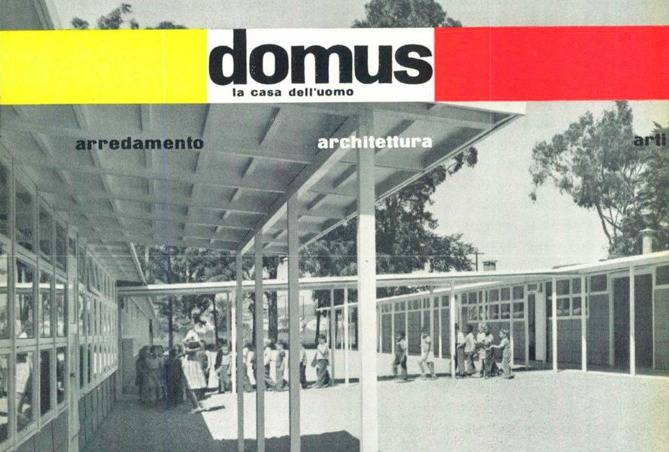 Architecture for education. Domus 220, june 1947. The cover of the magazine.
