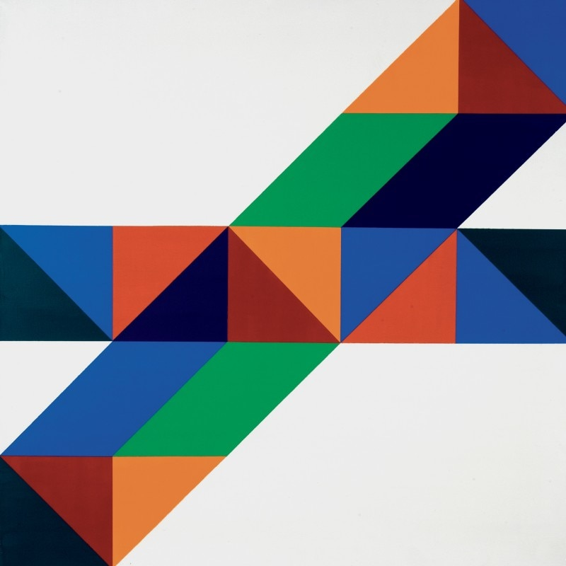 Tomás Maldonado, Bonjour Madame Diagonale, 2000. Acrylic on canvas, 80x80 cm. Tomás Maldonado collection, Milan. Photo Andrea Melzi
