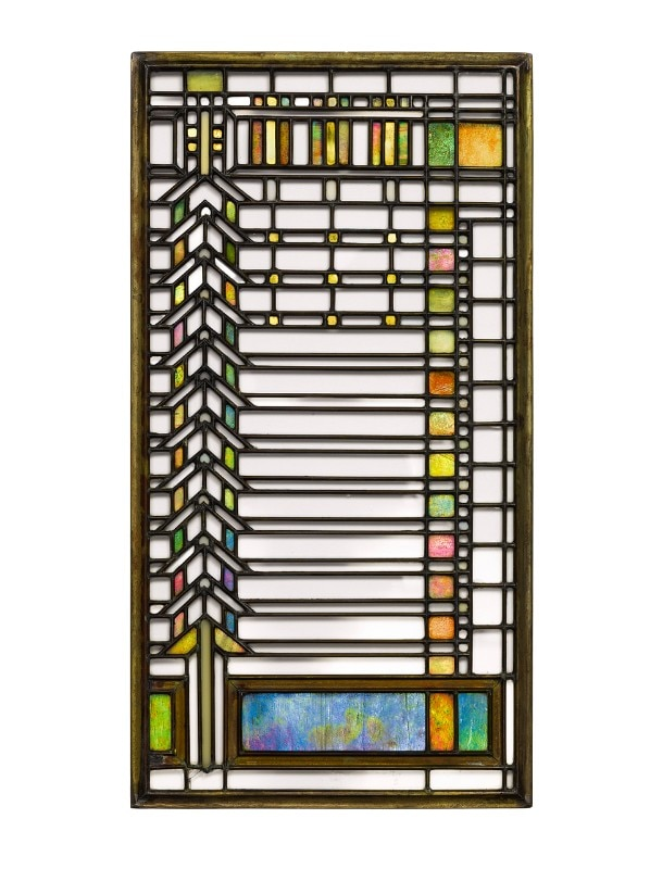 Frank Lloyd Wright, Chevrom casement windows from the Darwin D. Martin House, Buffalo, New York. © Courtesy of Sotheby's