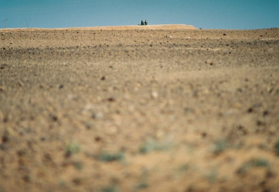 Il muro del Sahara occidentale in Marocco