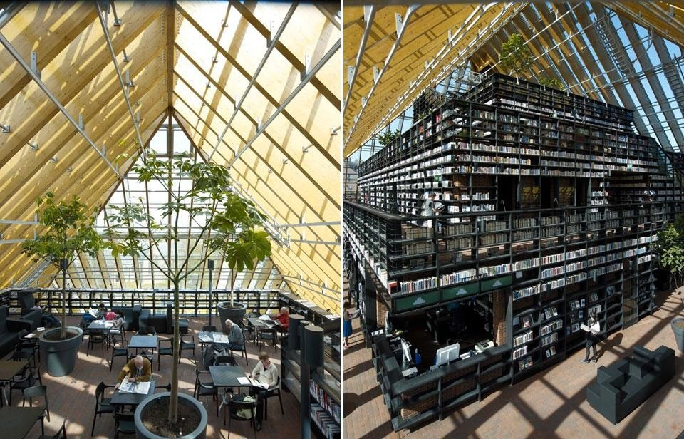 MVRDV, Spijkenisse Book Mountain, nuova biblioteca di Spijkenisse, Olanda 2012