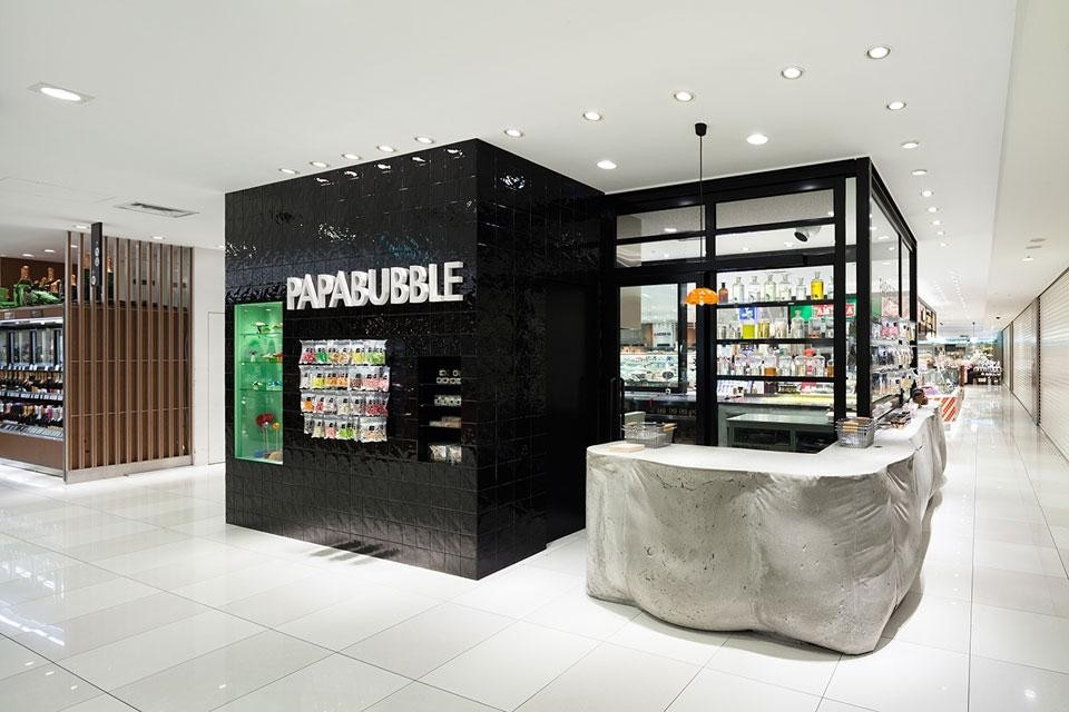 Papabubble shop domus for Architetti giapponesi